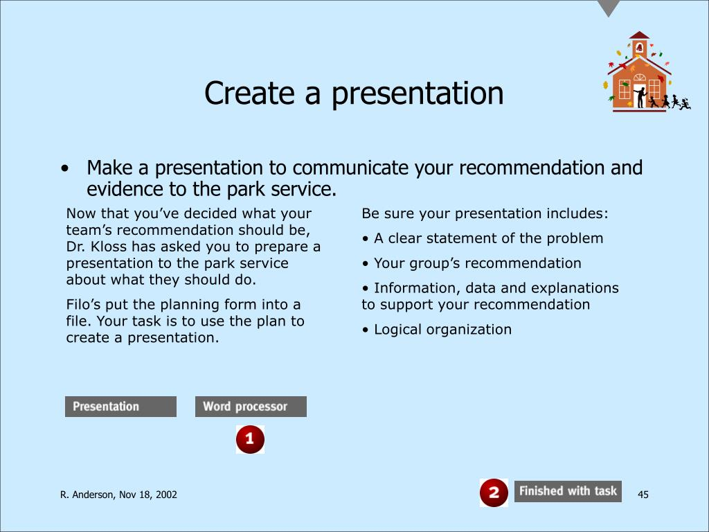 Create a presentation