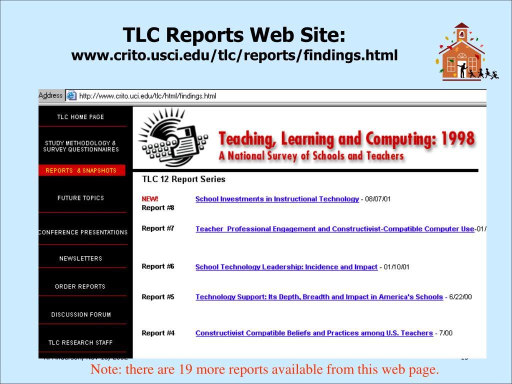 TLC Reports Web Site: