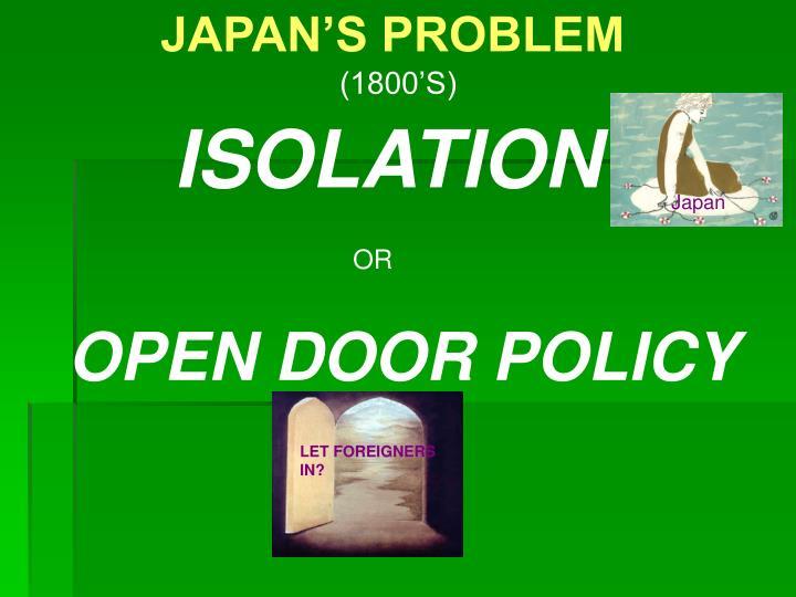 JAPAN'S PROBLEM