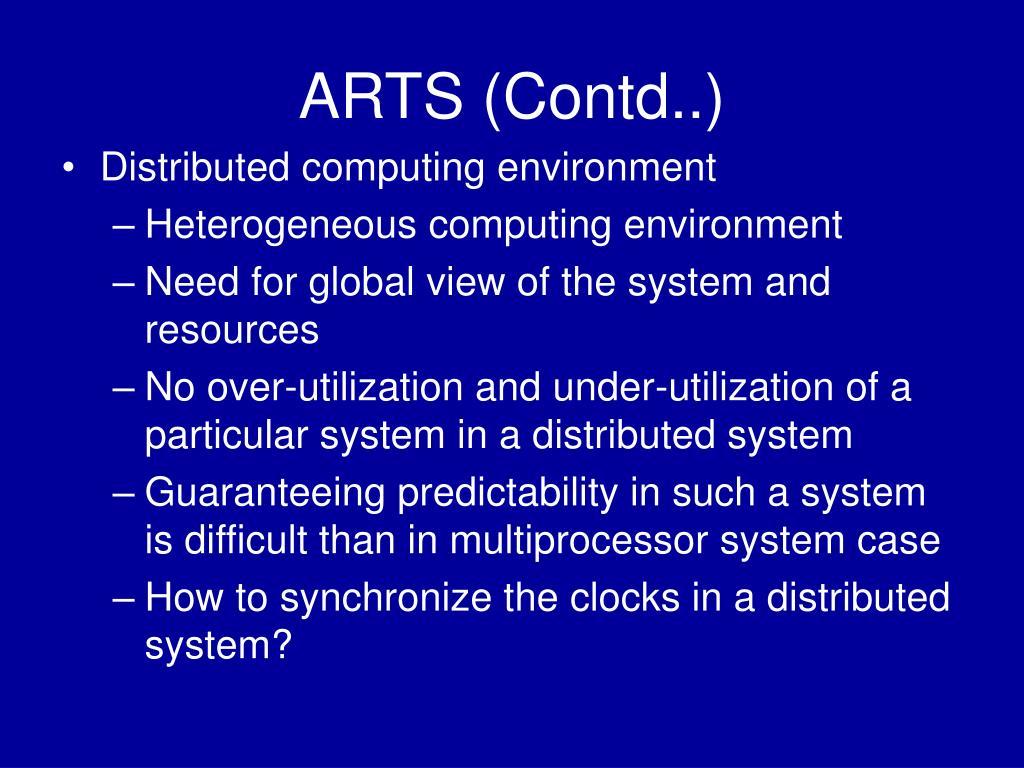 ARTS (Contd..)
