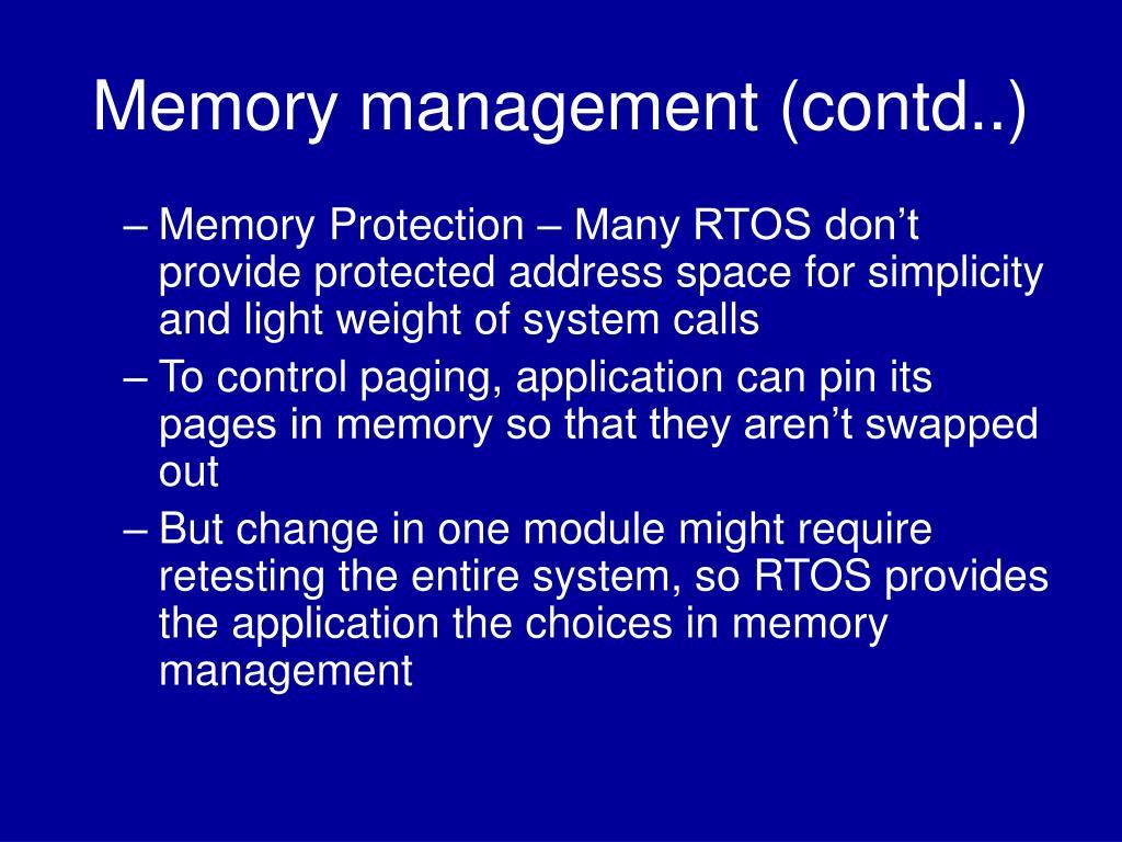 Memory management (contd..)