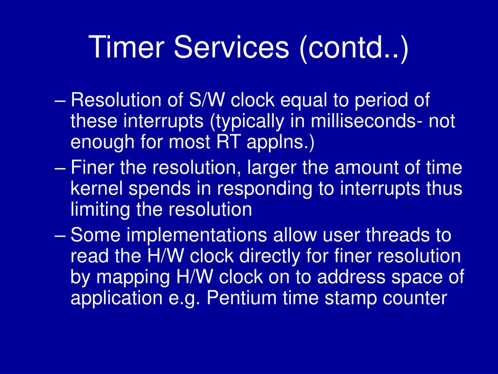 Timer Services (contd..)