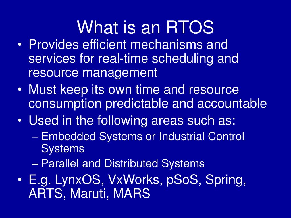 What is an RTOS