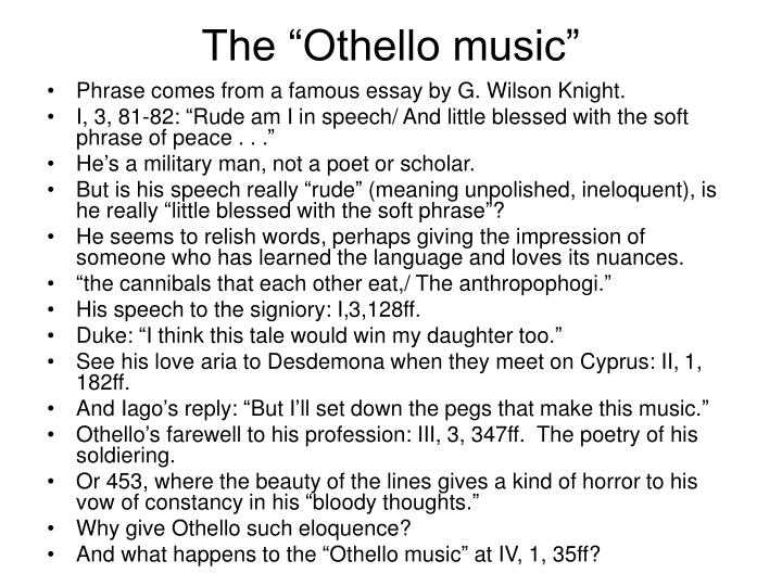 "The ""Othello music"""