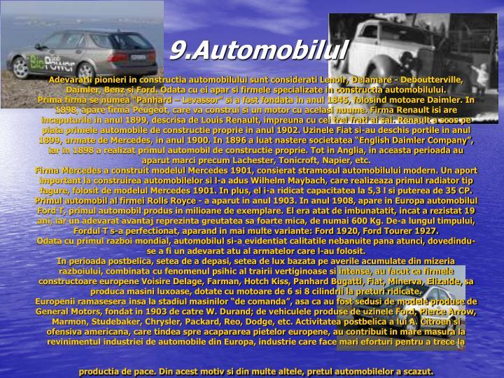 9.Automobilul
