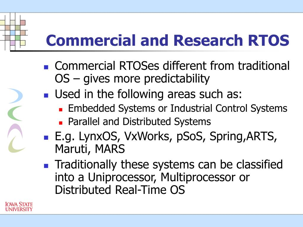 Commercial and Research RTOS