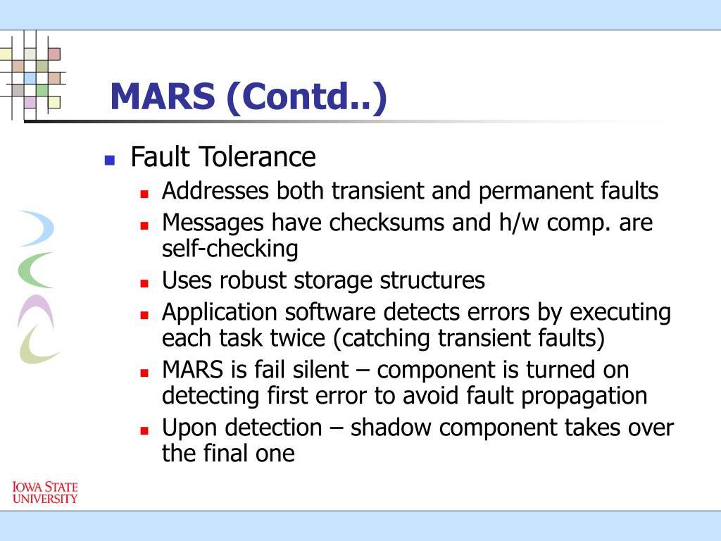 MARS (Contd..)