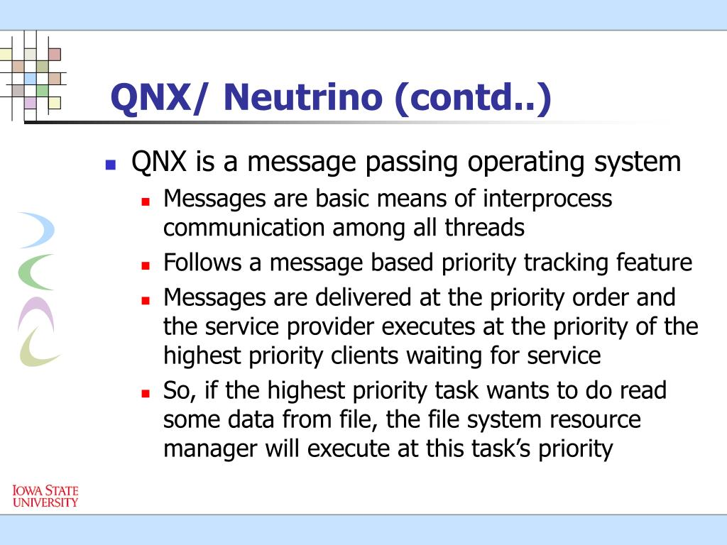 QNX/ Neutrino (contd..)