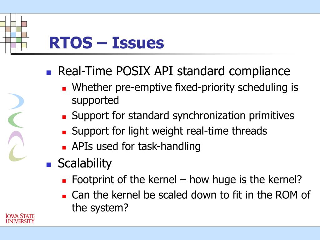 RTOS – Issues