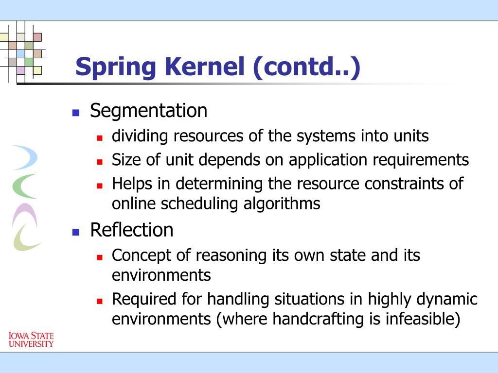 Spring Kernel (contd..)