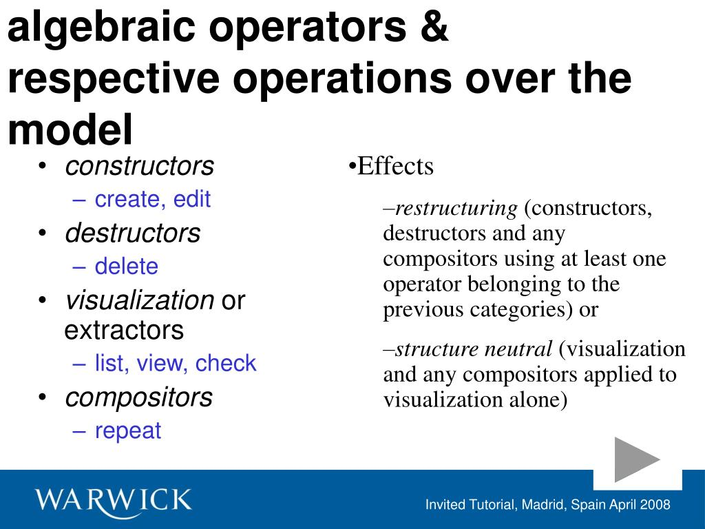 algebraic operators