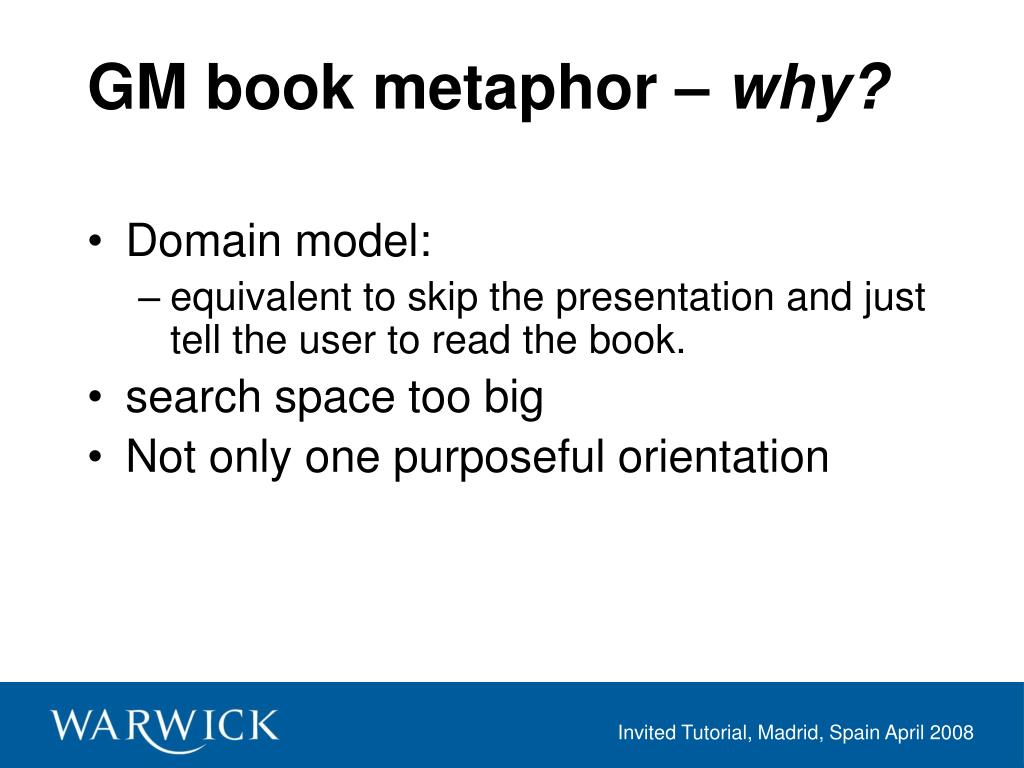 GM book metaphor