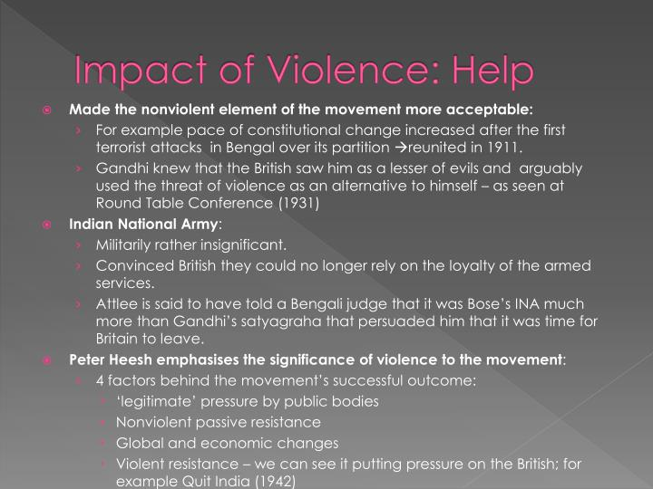 Impact of Violence: Help