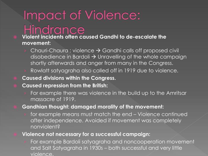 Impact of Violence: Hindrance