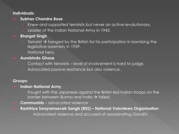 Individuals:
