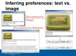 inferring preferences text vs image