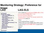 monitoring strategy preference for image