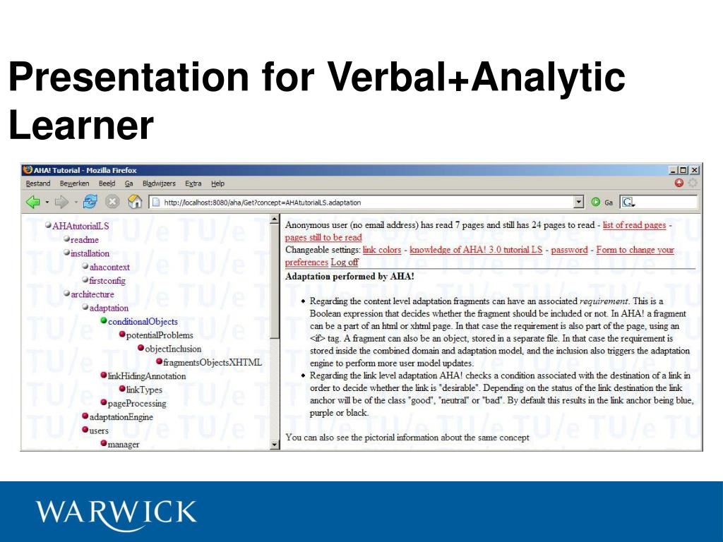 Presentation for Verbal+Analytic Learner
