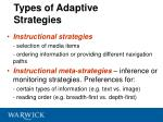 types of adaptive strategies