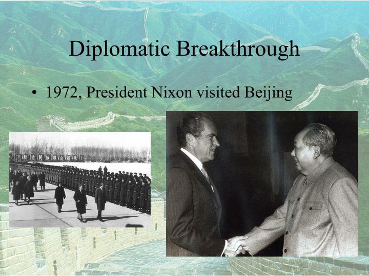 Diplomatic Breakthrough