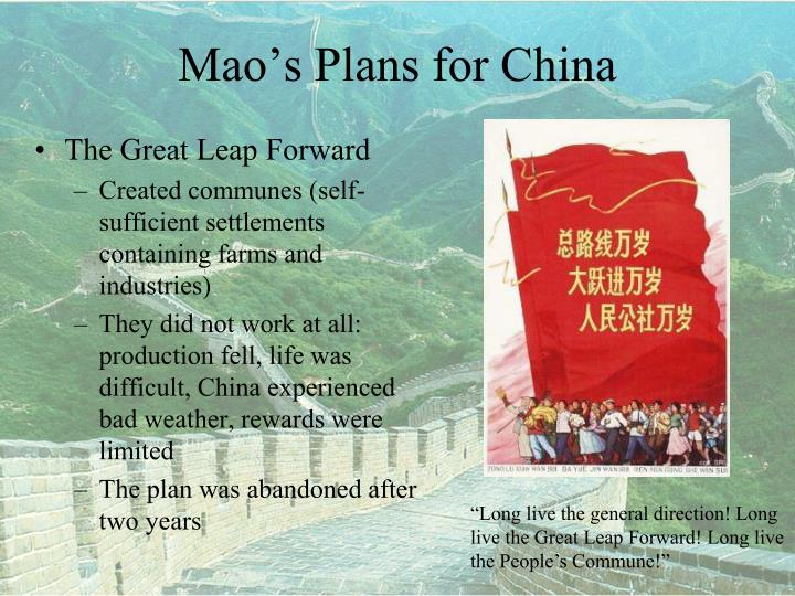 Mao s plans for china