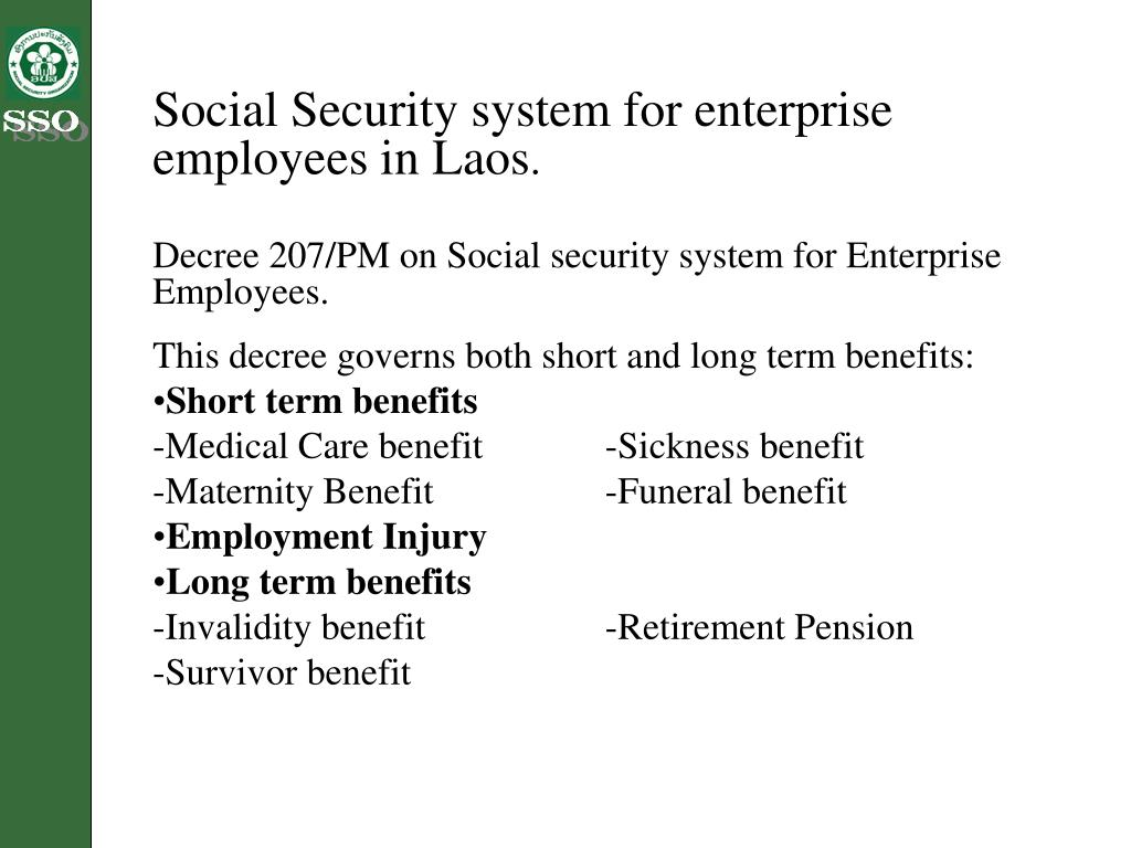 Social Security system for enterprise employees in Laos