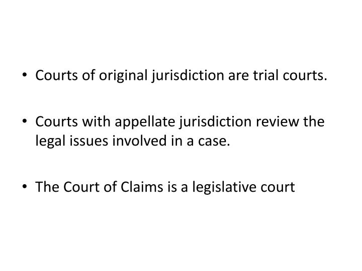 Courts of original jurisdiction