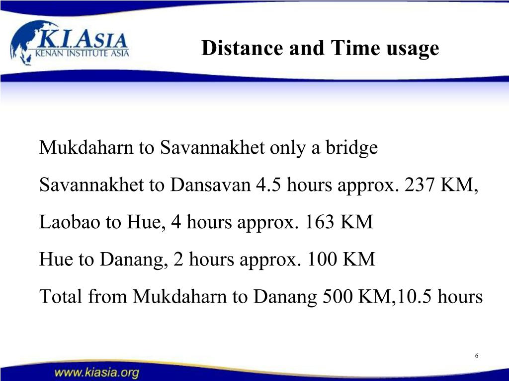 Distance and Time usage