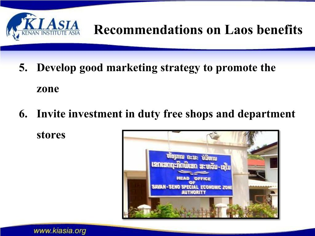 Recommendations on Laos benefits