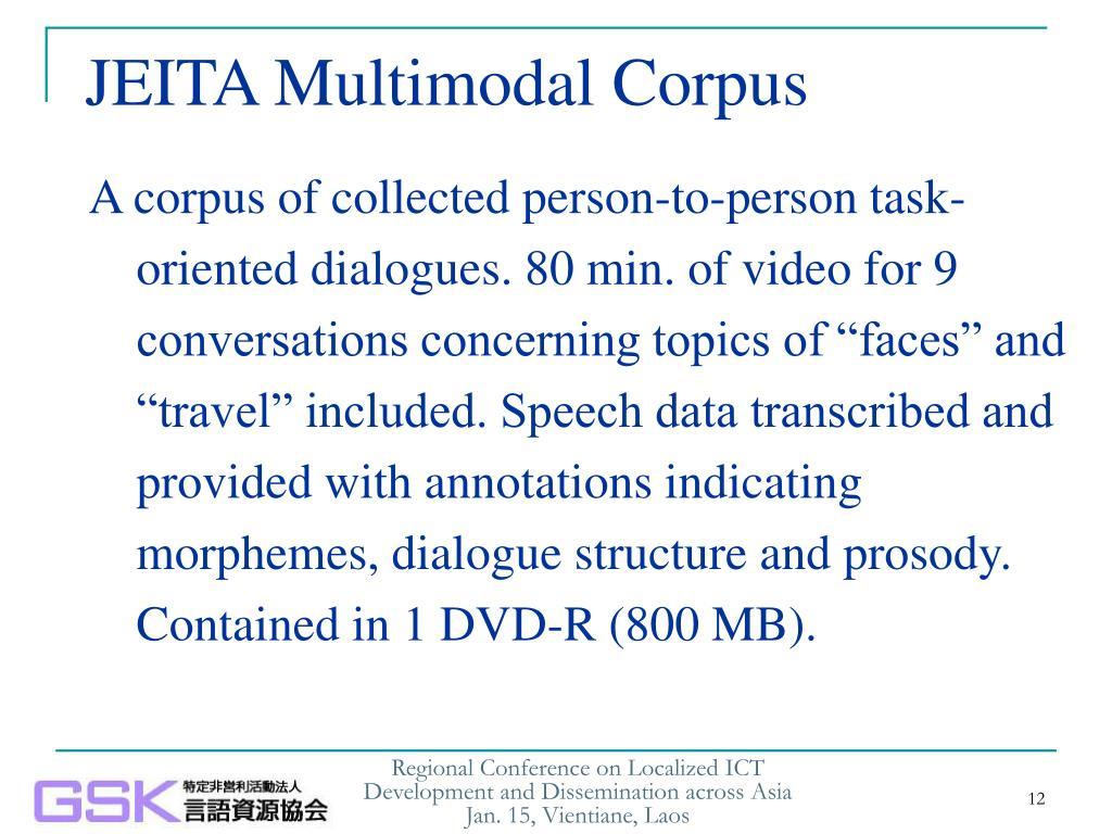 JEITA Multimodal Corpus