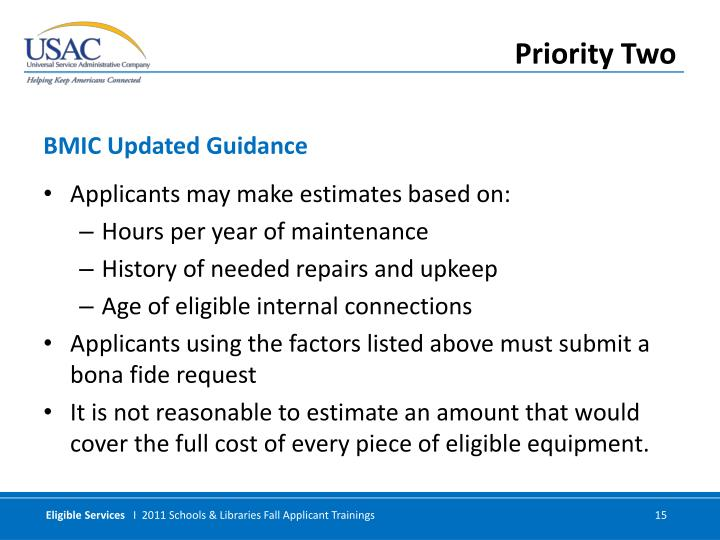 Applicants may make estimates based on: