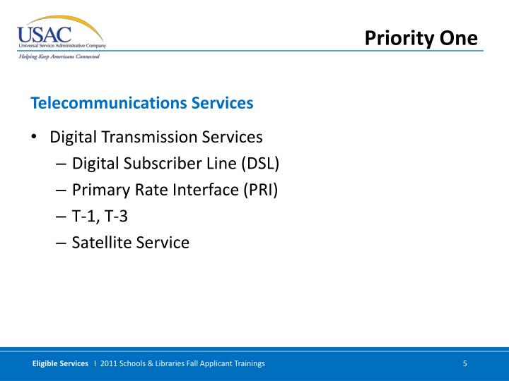 Digital Transmission Services