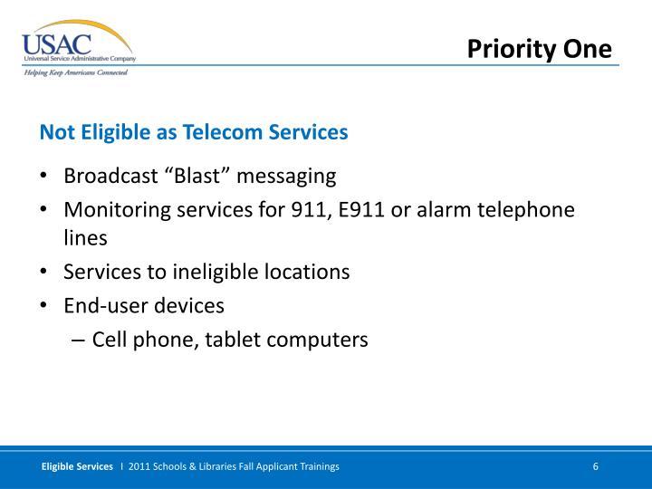 "Broadcast ""Blast"" messaging"