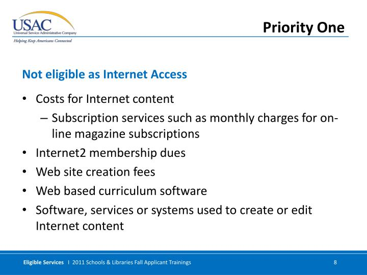 Costs for Internet content