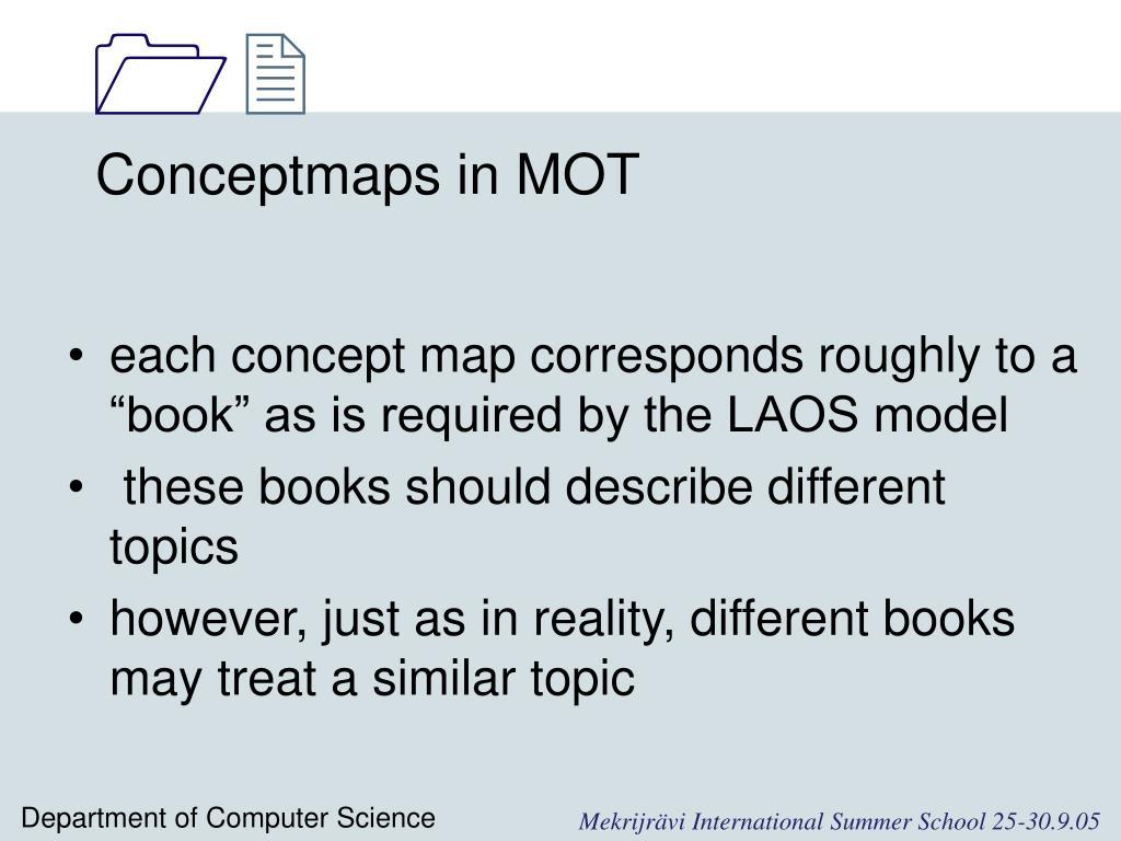 Conceptmaps in MOT