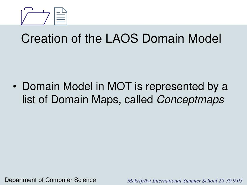 Creation of the LAOS Domain Model