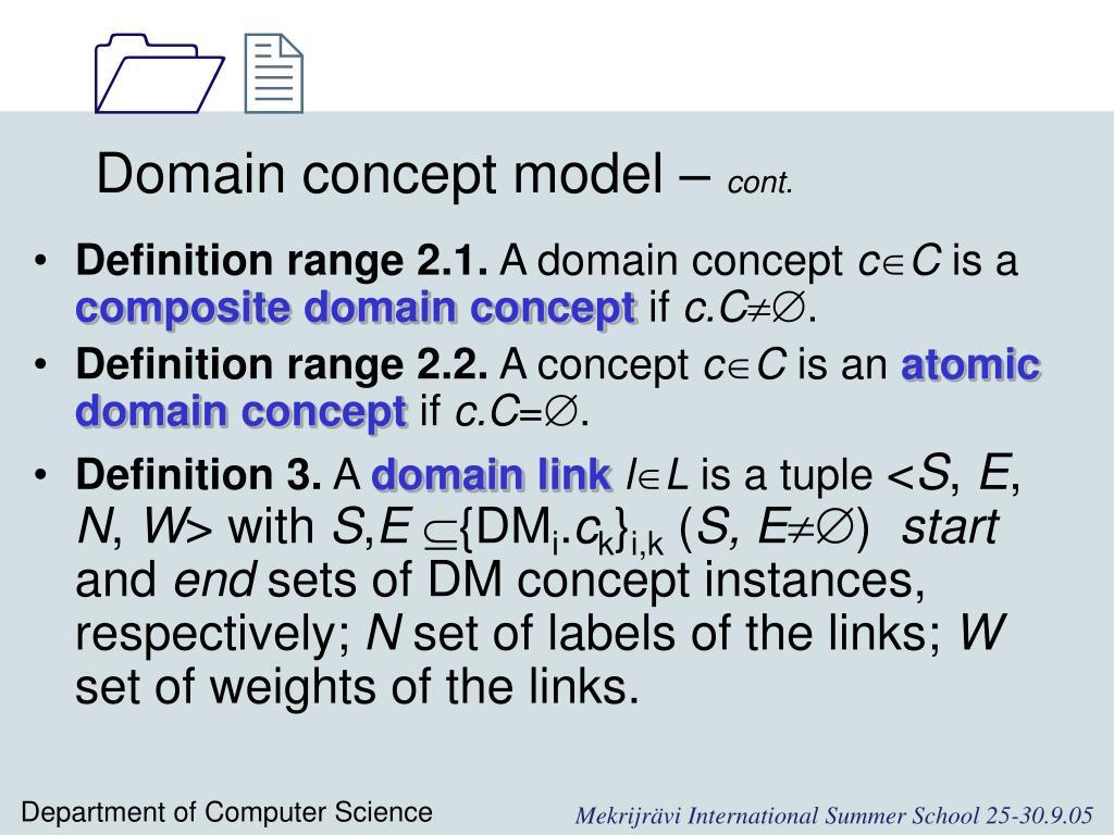 Domain concept model –