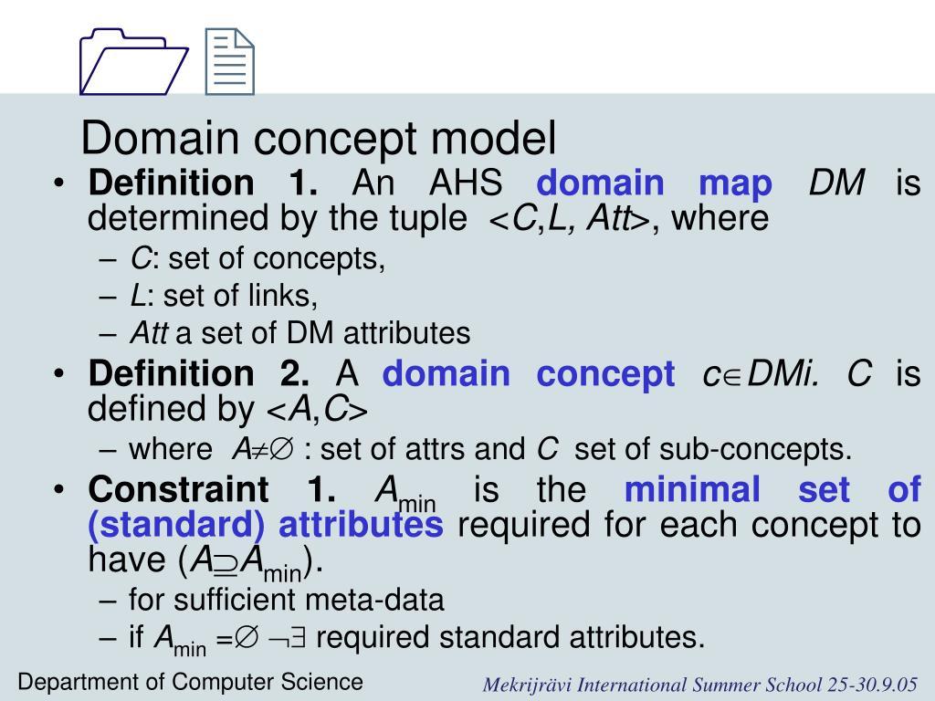 Domain concept model