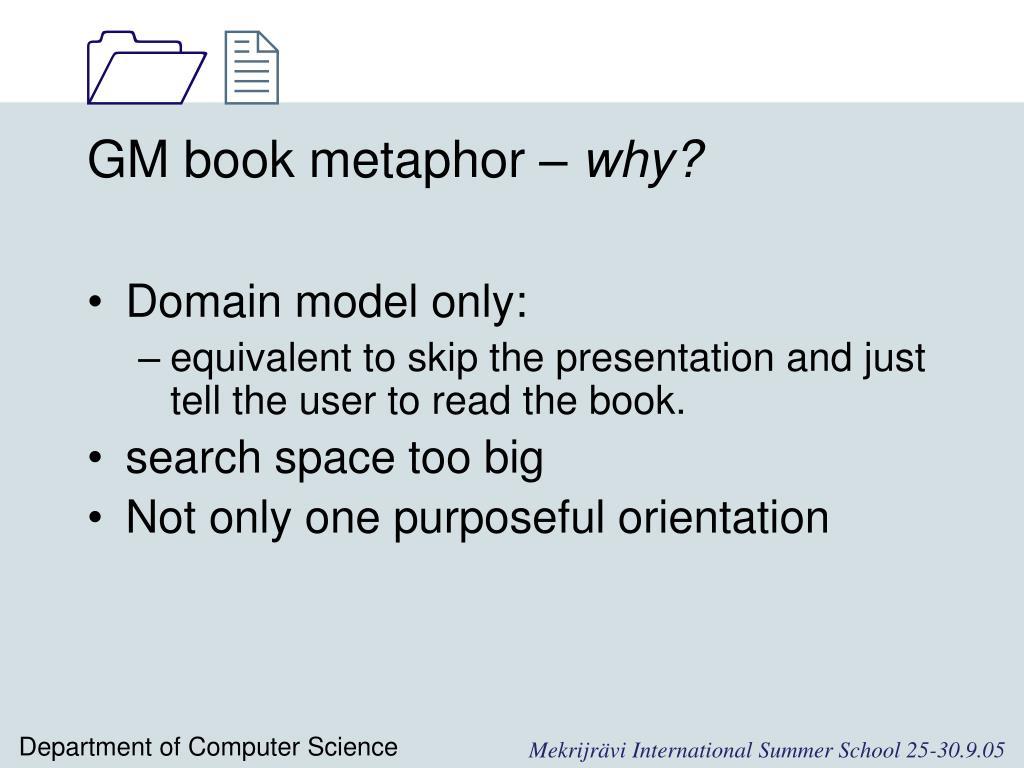 GM book metaphor