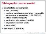 bibliographic format model