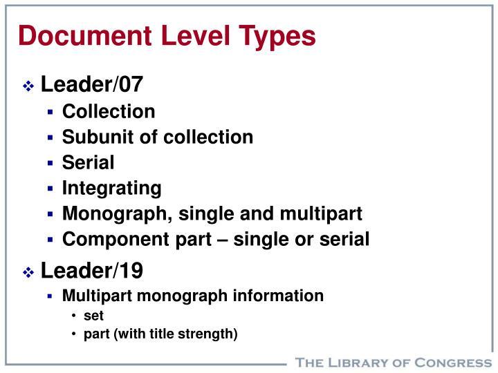 Document Level Types