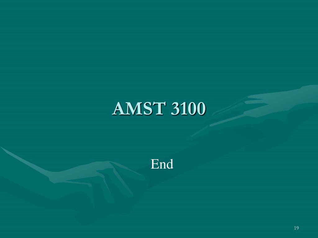 AMST 3100