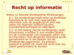 recht op informatie