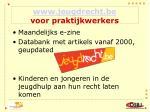 www jeugdrecht be voor praktijkwerkers