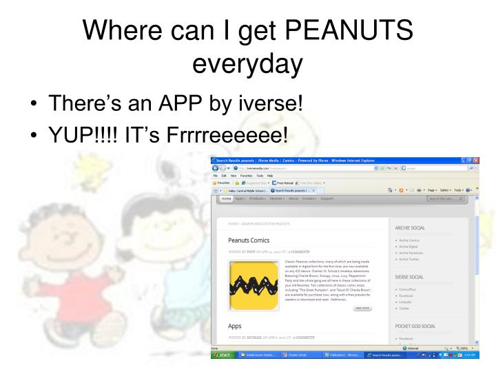 Where can I get PEANUTS everyday