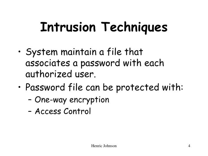 Intrusion Techniques