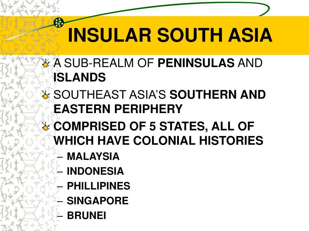 INSULAR SOUTH ASIA