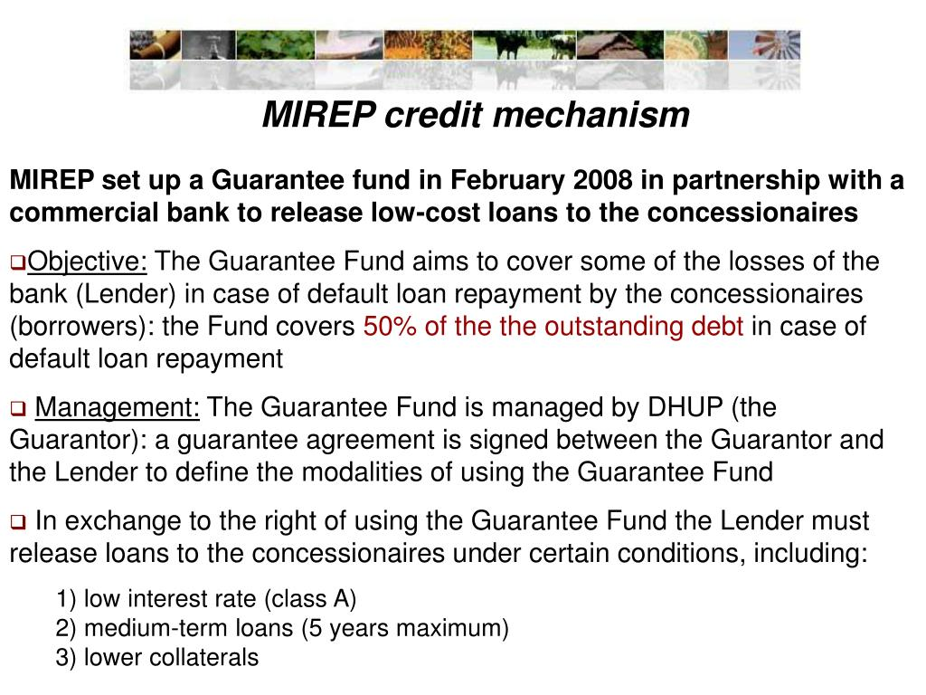 MIREP credit mechanism