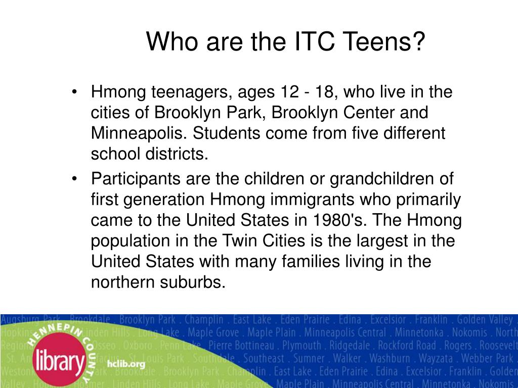 Who are the ITC Teens?