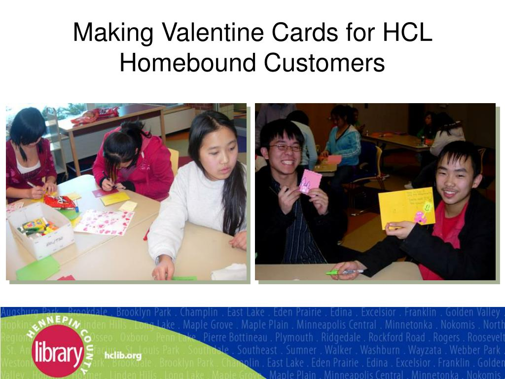 Making Valentine Cards for HCL Homebound Customers